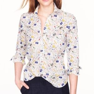 "J. Crew ""Bon Voyage"" French Themed Popover"